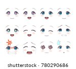 the real eyes of anime  manga ... | Shutterstock .eps vector #780290686