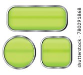 green buttons set isolated on a ... | Shutterstock .eps vector #780291868