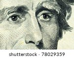 Small photo of Portrait of Andrew Jackson on the Twenty Dollar banknote