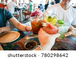 friends toasting  saying cheers ... | Shutterstock . vector #780298642