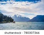traful lake at patagonia ... | Shutterstock . vector #780307366