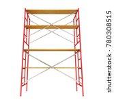 scaffolding metal construction... | Shutterstock . vector #780308515