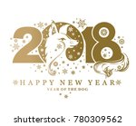 beautiful new year card with... | Shutterstock .eps vector #780309562