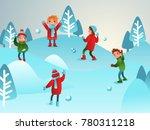 winter illustration. children... | Shutterstock .eps vector #780311218
