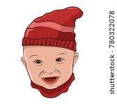 illustration of baby head smile ... | Shutterstock .eps vector #780322078