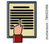 hand pointing document | Shutterstock .eps vector #780322486