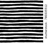 irregular black striped pattern.... | Shutterstock .eps vector #780335512