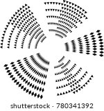 lines in circle form . spiral... | Shutterstock .eps vector #780341392