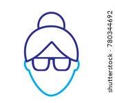 faceless woman profile avatar...   Shutterstock .eps vector #780344692