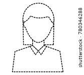 woman avatar portrait icon... | Shutterstock .eps vector #780346288