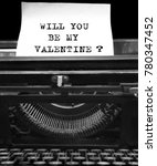 will you be my valentine    ...   Shutterstock . vector #780347452