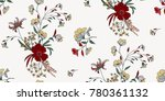 seamless floral pattern in... | Shutterstock .eps vector #780361132