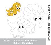 triceratops mother and her... | Shutterstock .eps vector #780361696