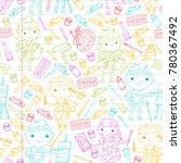 children creativity... | Shutterstock .eps vector #780367492