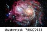 Nebula And Galaxy. Majestic...