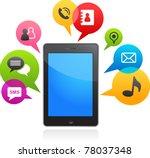 vector smart phone with speech ... | Shutterstock .eps vector #78037348