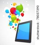 colorful vector smart phone... | Shutterstock .eps vector #78037390