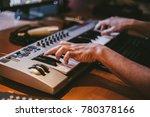 working in music studio   Shutterstock . vector #780378166
