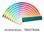 rainbow sample colors catalogue ... | Shutterstock . vector #780378406