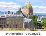 view of old quebec and the ch... | Shutterstock . vector #78038281