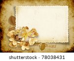 vintage background with card... | Shutterstock . vector #78038431
