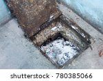fat in the drainage tube with...   Shutterstock . vector #780385066