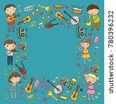 music school for kids vector...   Shutterstock .eps vector #780396232