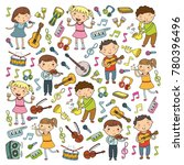 music school for kids vector... | Shutterstock .eps vector #780396496