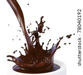 splash of brown hot chocolate... | Shutterstock . vector #78040192
