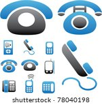 phone   connection icons  signs ... | Shutterstock .eps vector #78040198