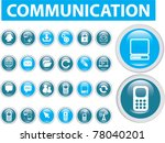 20 communication buttons  icons ...