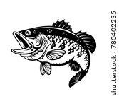 graphic bass fish  vector | Shutterstock .eps vector #780402235