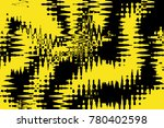 abstract digital yellow and... | Shutterstock . vector #780402598