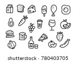 icon food  vector | Shutterstock .eps vector #780403705