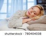 sweet dream. young blond...   Shutterstock . vector #780404038