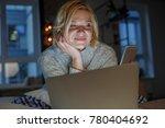 portrait of careless woman...   Shutterstock . vector #780404692