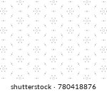 ornament with elements of black ... | Shutterstock . vector #780418876