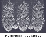 vector lace floral pattern.... | Shutterstock .eps vector #780425686