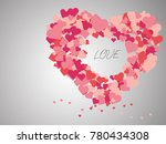 small heart unify to large... | Shutterstock .eps vector #780434308