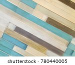 decorative colorful wooden ... | Shutterstock . vector #780440005