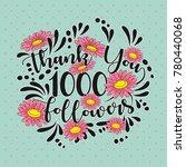 thank you followers template... | Shutterstock .eps vector #780440068