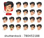 the second set of male facial... | Shutterstock .eps vector #780452188