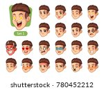 the first set of male facial... | Shutterstock .eps vector #780452212