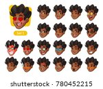 the first set of male facial...   Shutterstock .eps vector #780452215