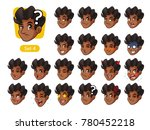 the fourth set of male facial... | Shutterstock .eps vector #780452218