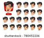 the third set of male facial... | Shutterstock .eps vector #780452236