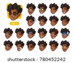 the third set of male facial... | Shutterstock .eps vector #780452242