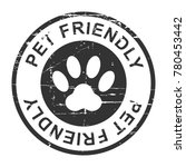 pet friendly grunge stamp ... | Shutterstock .eps vector #780453442