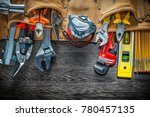 tool belt with construction... | Shutterstock . vector #780457135