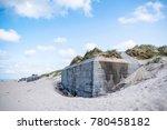 close up of a german bunker...   Shutterstock . vector #780458182